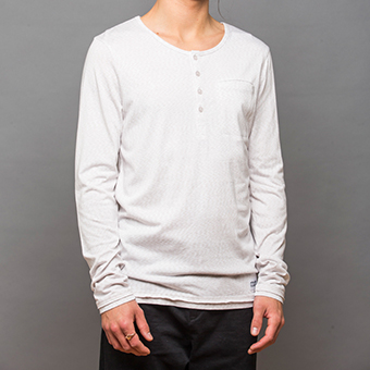 Bamboo LS Henley Shirt - White
