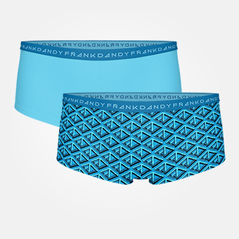 2-pack Womens FD Boxer - Lyons Blå/Hawaiian Ocean Blue