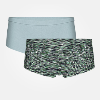 2-pack Women's Bamboo Boxer - Tourmaline/Space Grey Green