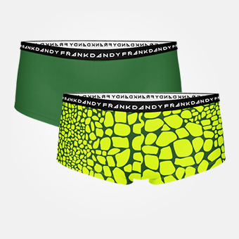 2 Pack Women's Crocodile Boxer - Green