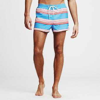Sunset Stripe Swimshorts - Ljusblå