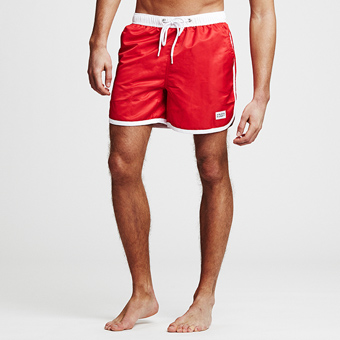 St Paul Long Swimshorts - Röd