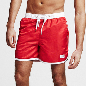 St Paul Long Swim Shorts - Red