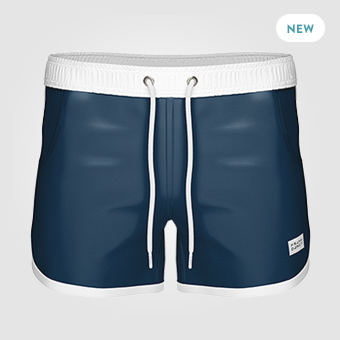 St Paul Long Swim Shorts - Dark Navy
