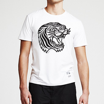 Bamboo Tee Tiger - White