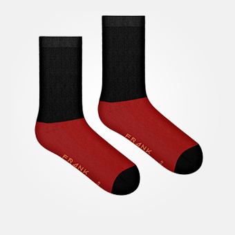 Bamboo Block Crew Sock