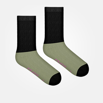 Light Military Green - Bamboo Block Socks