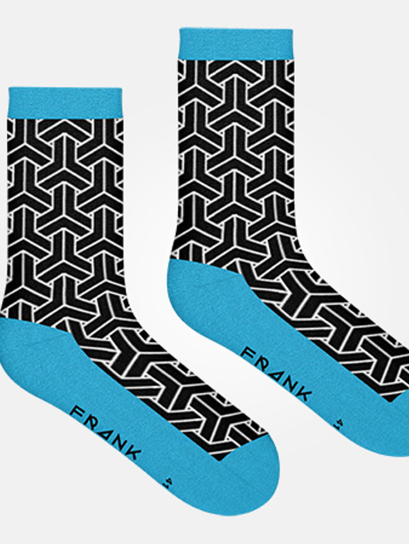 Black/Blue Sky - Bamboo Socks