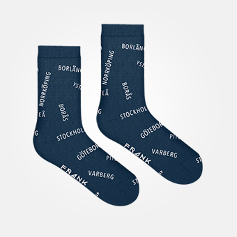 Bamboo Swewaii Crew Sock - Navy