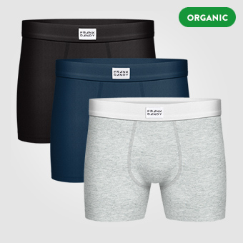 3P Legend Organic Boxer - Black/Navy/Grey