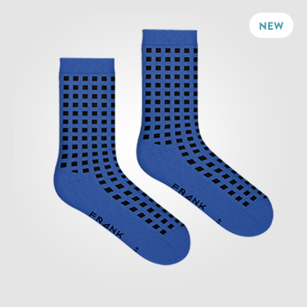 Blue - Bamboo Diamond Socks