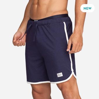 St Paul Bamboo Contrast Shorts - Marinblå