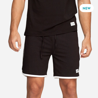 St Paul Bamboo Contrast Shorts - Black