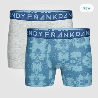 2P Tie Dye Boxer - Blå/Grå