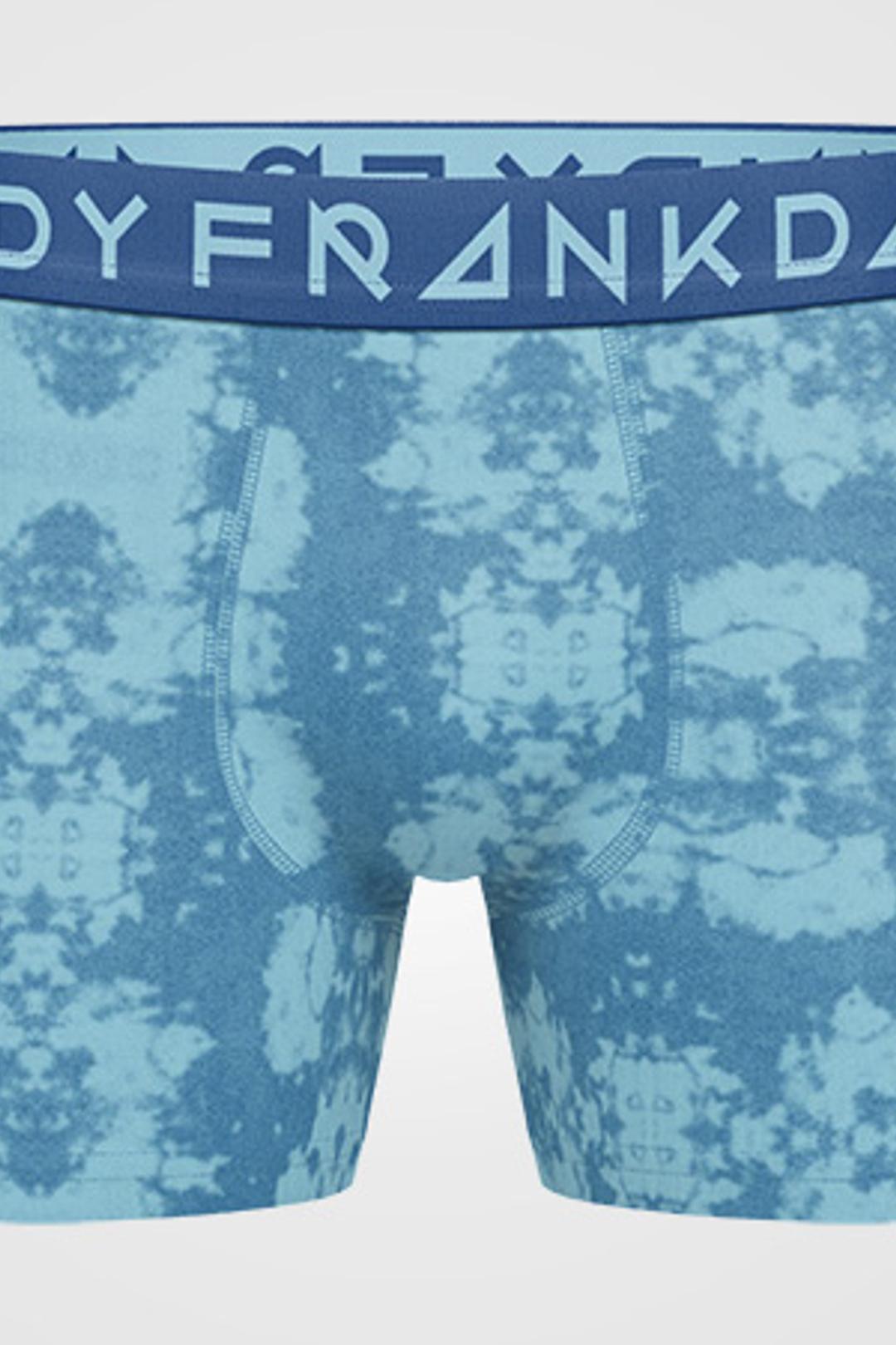 2P Tie Dye Boxer - Blue/Grey Melange