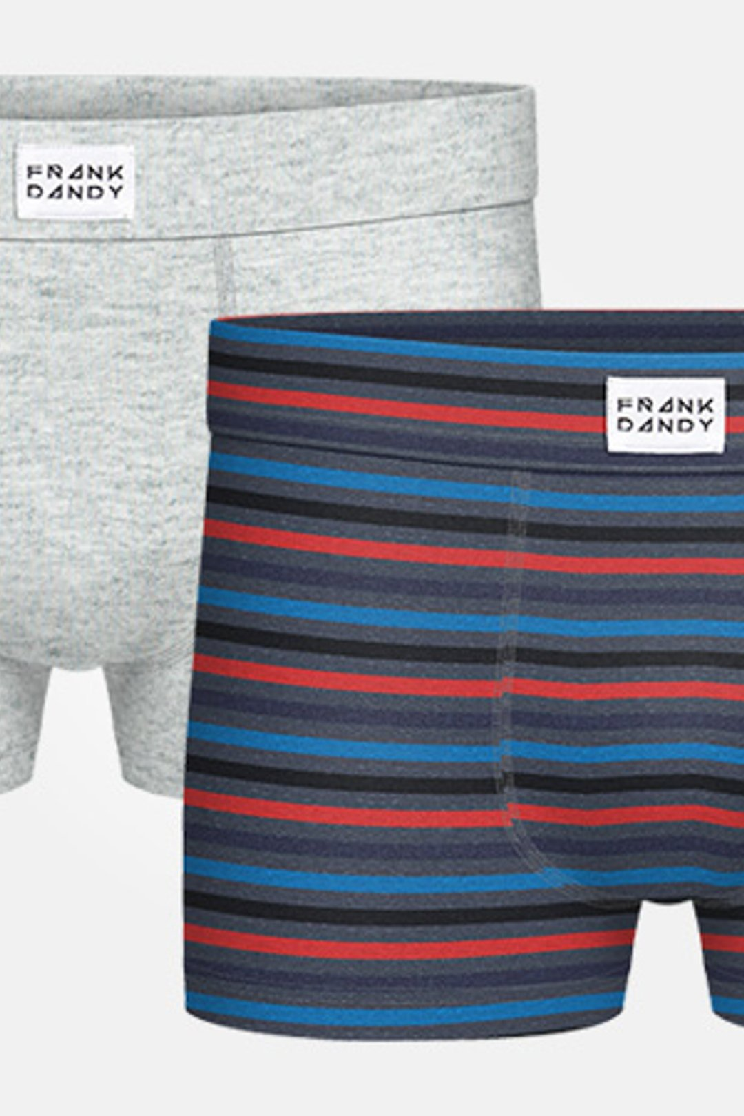 2P Bamboo Trunk - Grey/Striped Grey