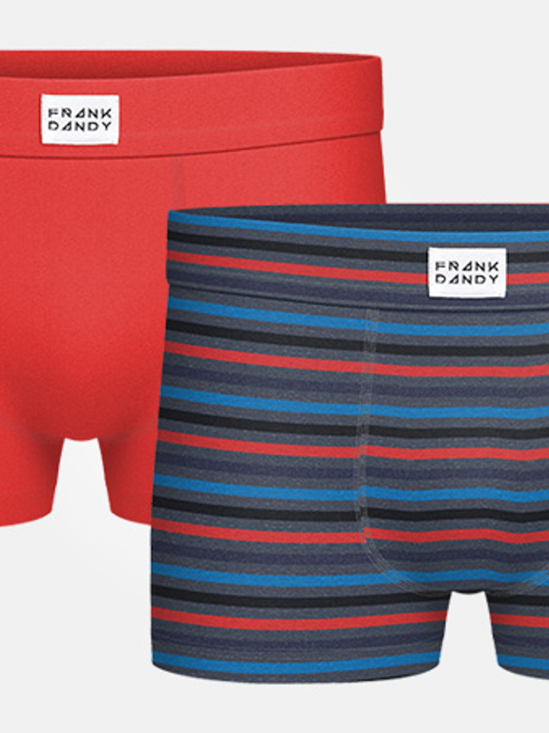 2P Bamboo Trunk - Red/Striped Grey
