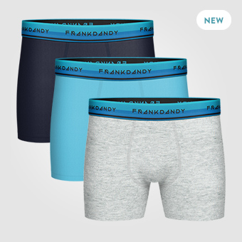 3P Solid Boxer - Navy/Grey/Light Blue