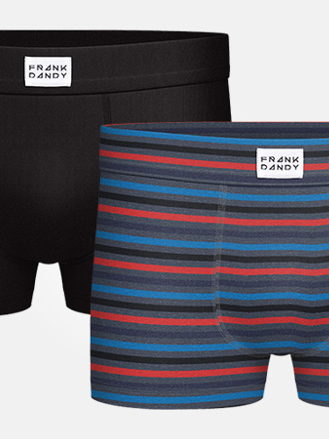 2P Bamboo Trunk - Black/Stripe Multi Grey