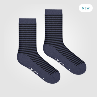 Stripe Dark Navy - Bamboo Stripe Socks