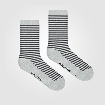 Bamboo Stripe Crew Sock