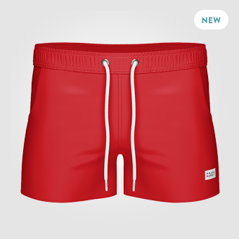 Breeze Long Swim Shorts - Red