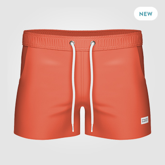 Breeze Long Swim Shorts - Dark Orange
