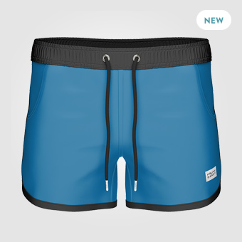 St Paul Long Swim Shorts - Blue/Black