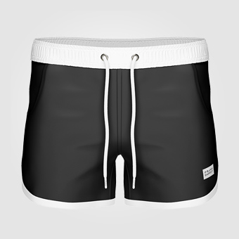 St Paul Long Swim Shorts - Black
