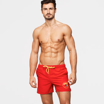 Baywatch Patch Swimshorts
